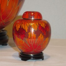Fall Leaf Cloisonne Miniature Keepsake Cremation Urn