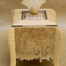 Half Moon Wood Cremation Urn