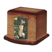 Sawyer Oak Cremation Urn