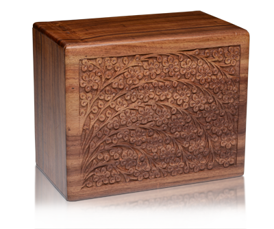 Rosewood Tree Of Life Cremation Urn Lone Star Cremation