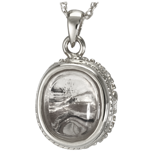 Glass oval cremation pendant lone star cremation glass oval cremation pendant aloadofball Gallery