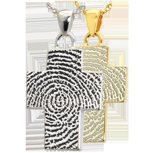 Cross fingerprint jewelry lone star cremation cross fingerprint jewelry solutioingenieria Gallery